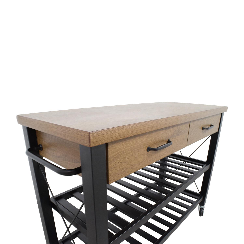 68% OFF - Walmart Walmart Kitchen Island Cart on Casters / Tables