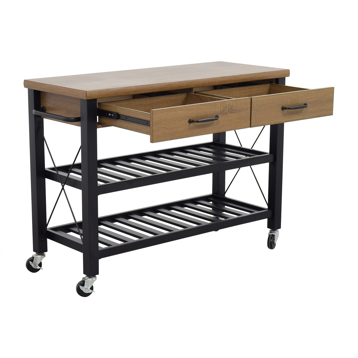 68 Off Walmart Walmart Kitchen Island Cart On Casters