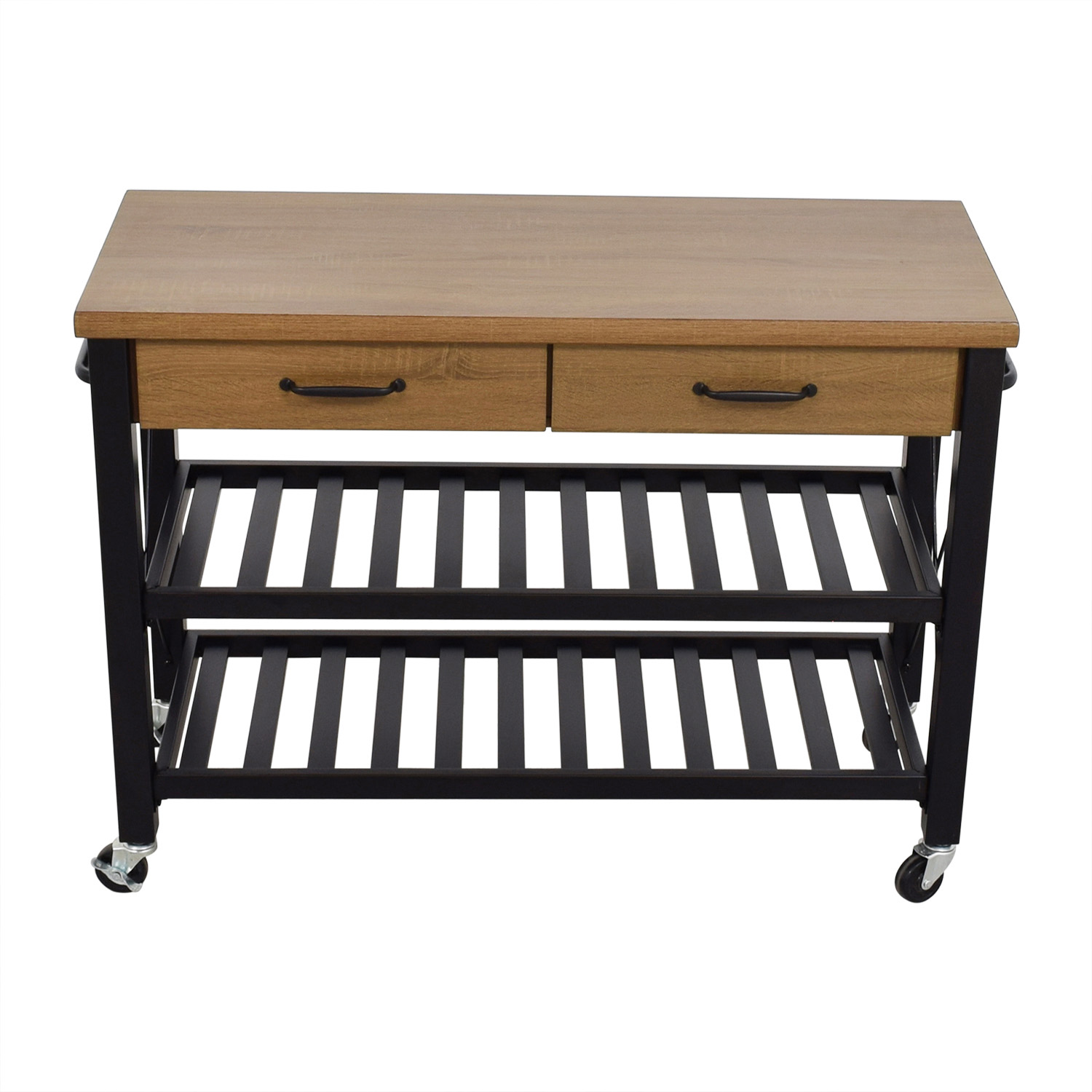 buy Walmart Kitchen Island Cart on Casters Walmart Tables