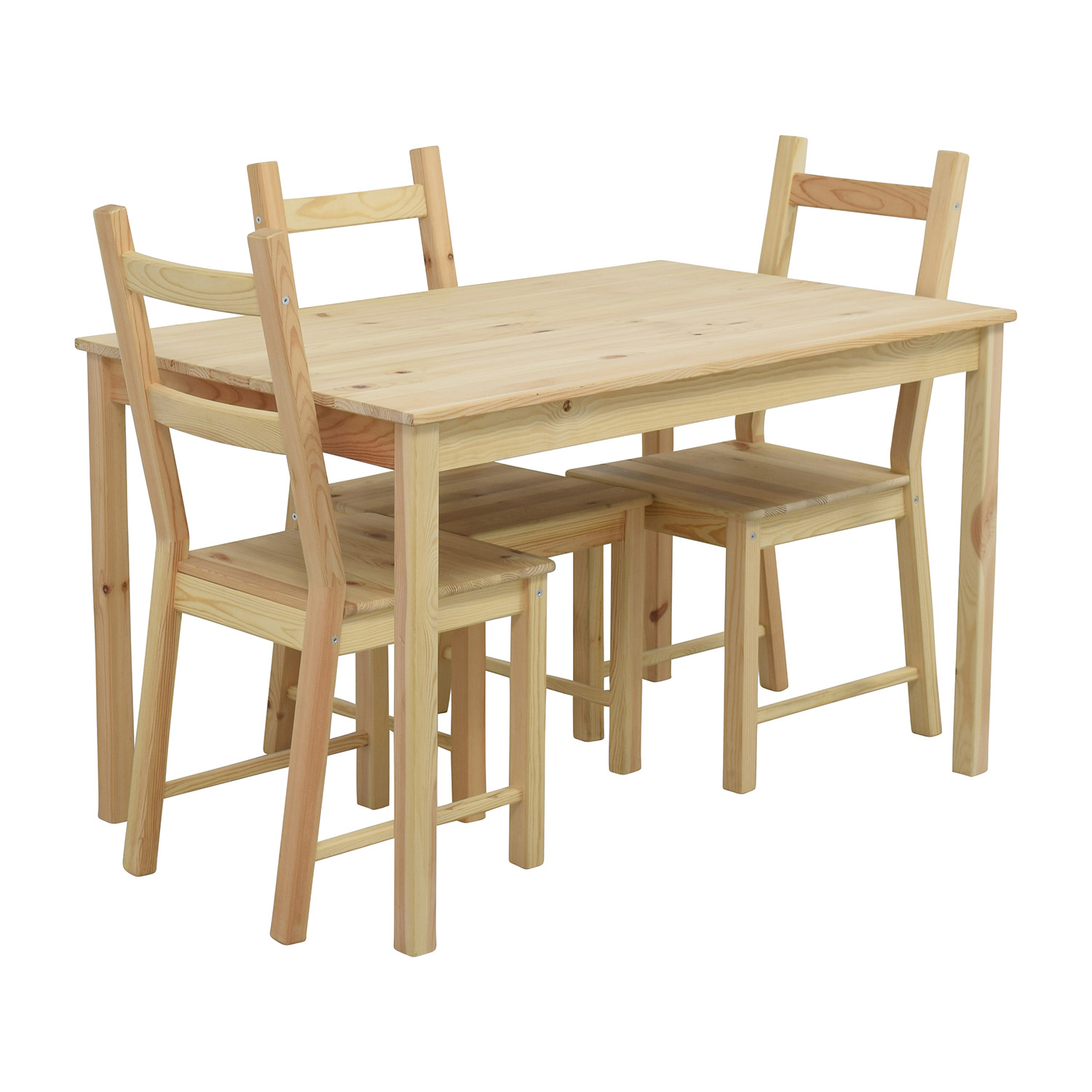 51 Off Ikea Ikea Ingo Pine Table With Ivar Pine Chairs