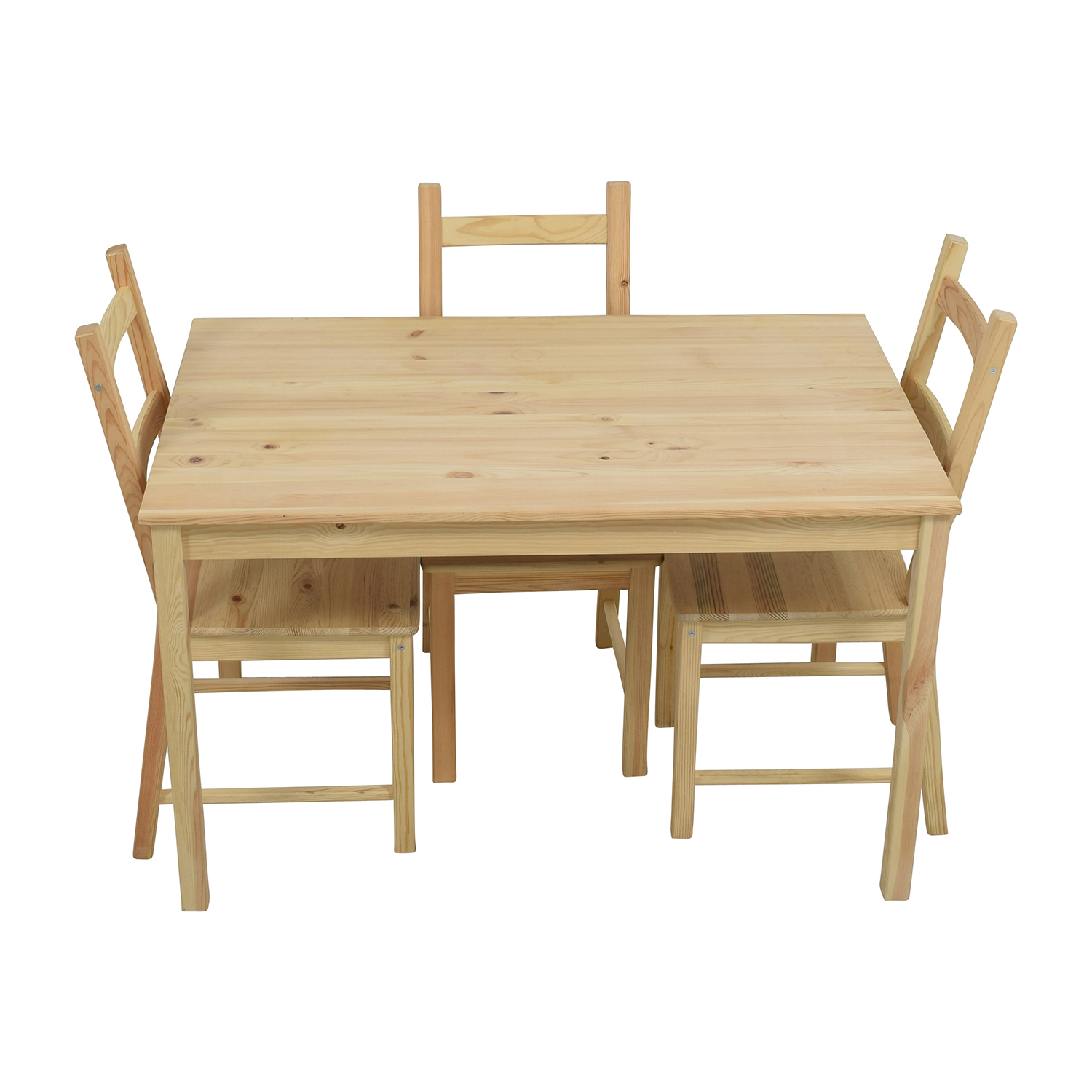 51 Off Ikea Ingo Pine Table With Ivar Chairs Tables