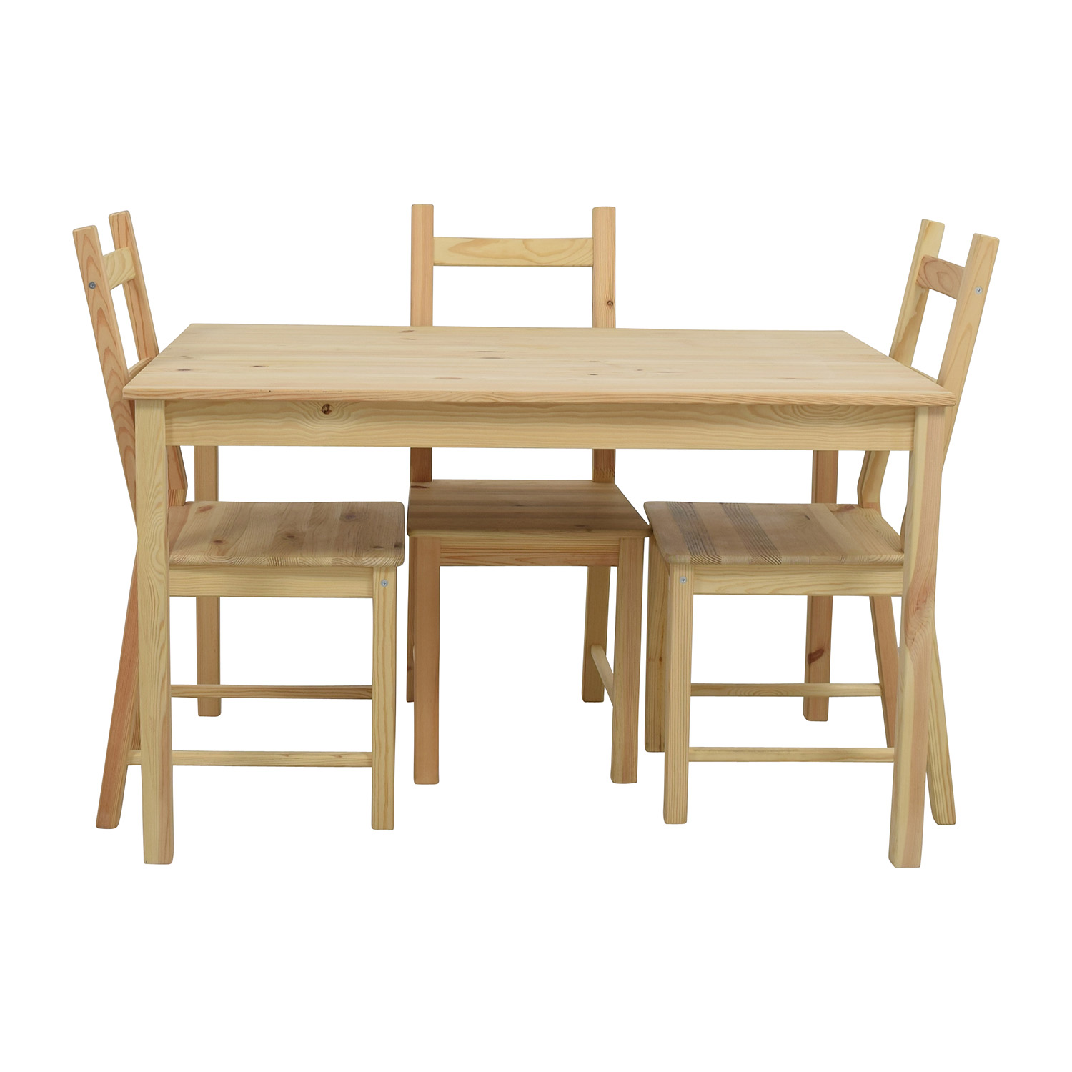 OFF IKEA IKEA INGO Pine Table with IVAR Pine Chairs Tables