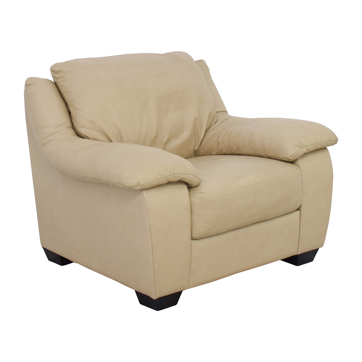 86 Off Natuzzi Natuzzi Italsofa Beige Leather Club