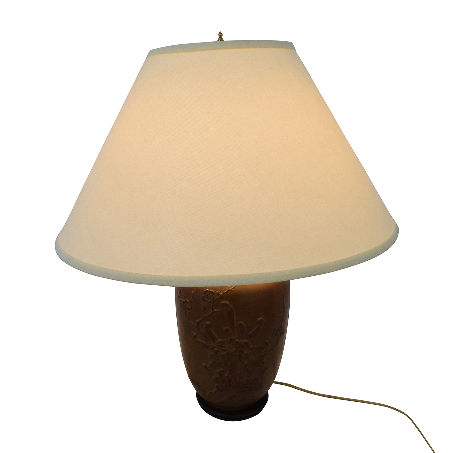 Floral Base Brown Bronze Urn Lamp / Lamps