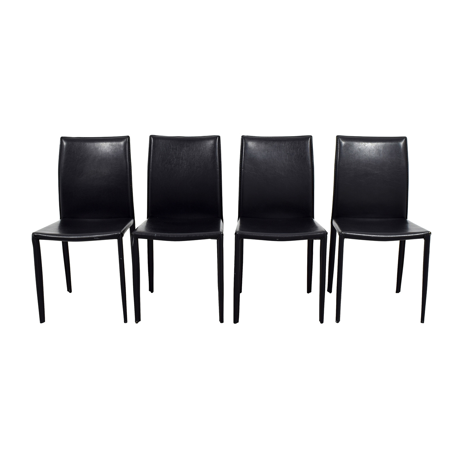 avery leather products tov armchair chair minimal modern black furniture