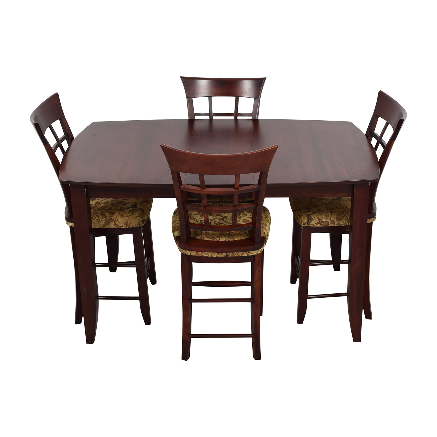 48 off high top dining table with four chairs tables for Four chair dining table