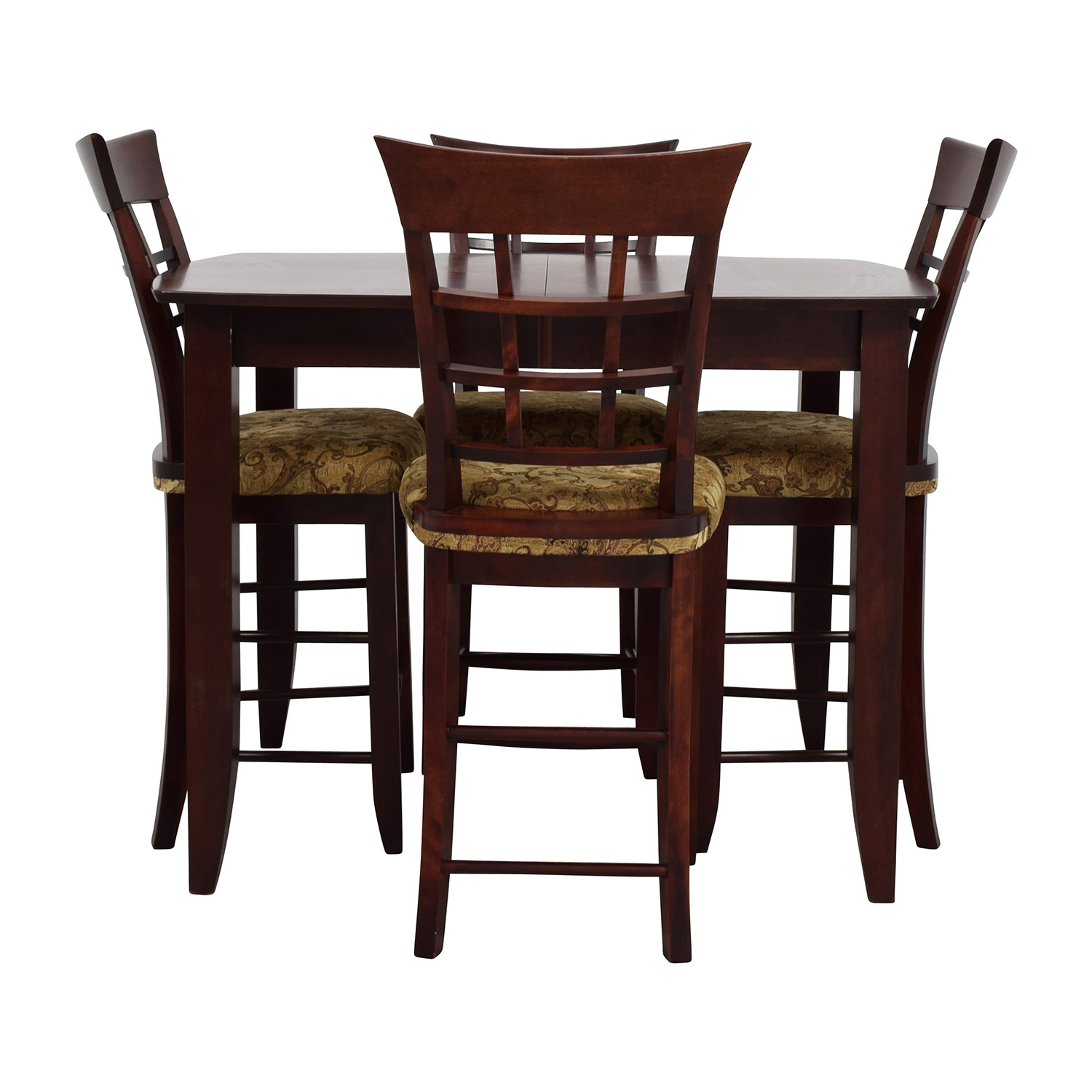 High Table With Stools: High Top Dining Table With Four Chairs / Tables