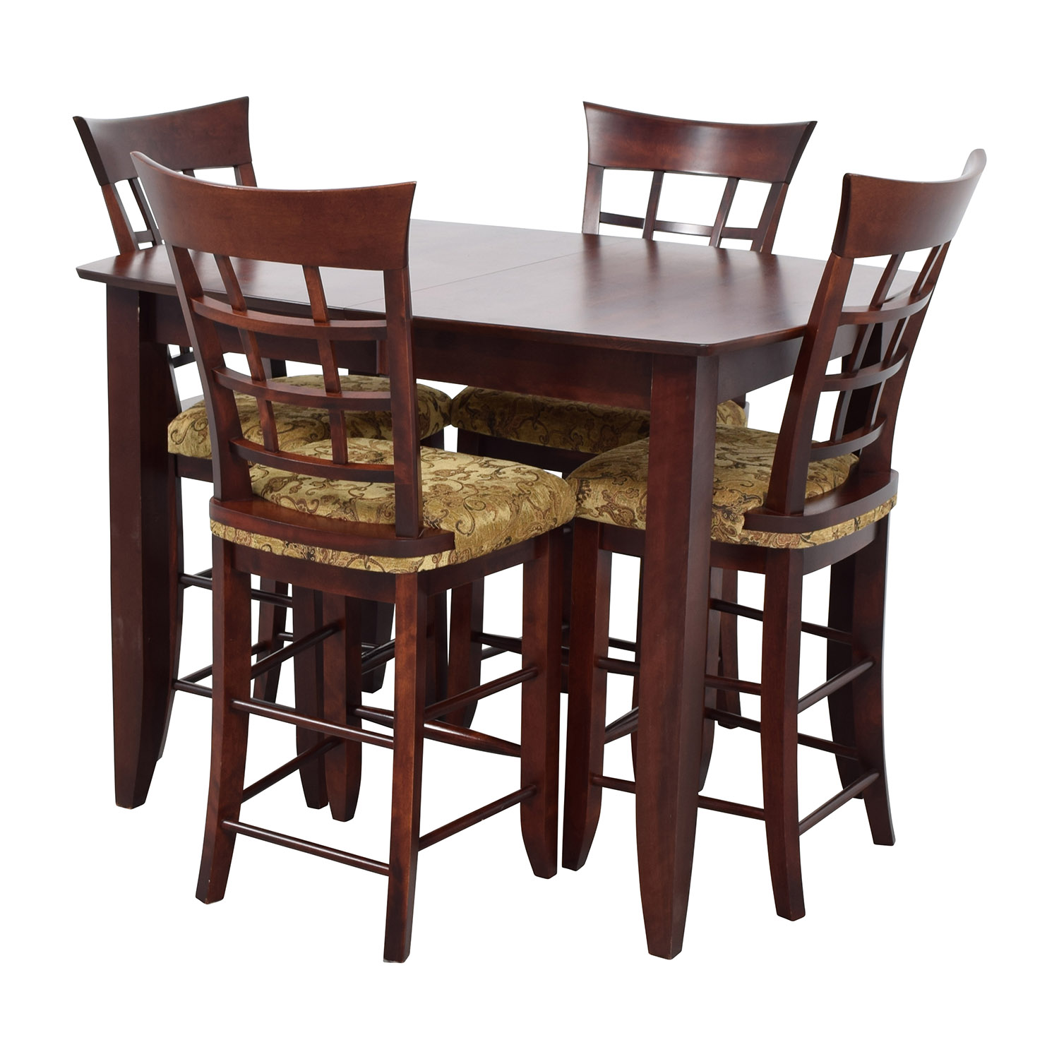 48 off high top dining table with four chairs tables for Four chair dining table set