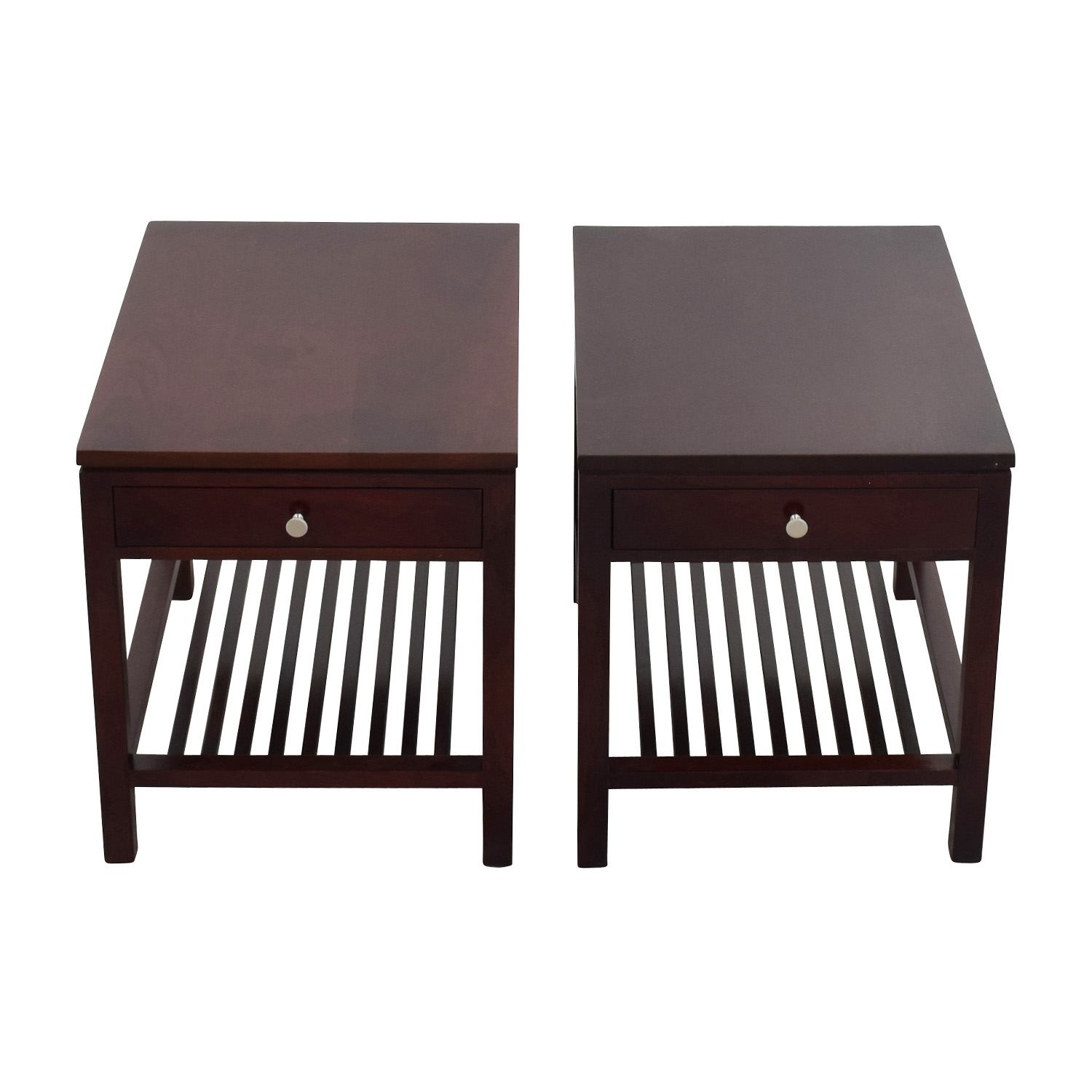 33 OFF Stickley Stickley Dark Brown Wood Side Table Tables
