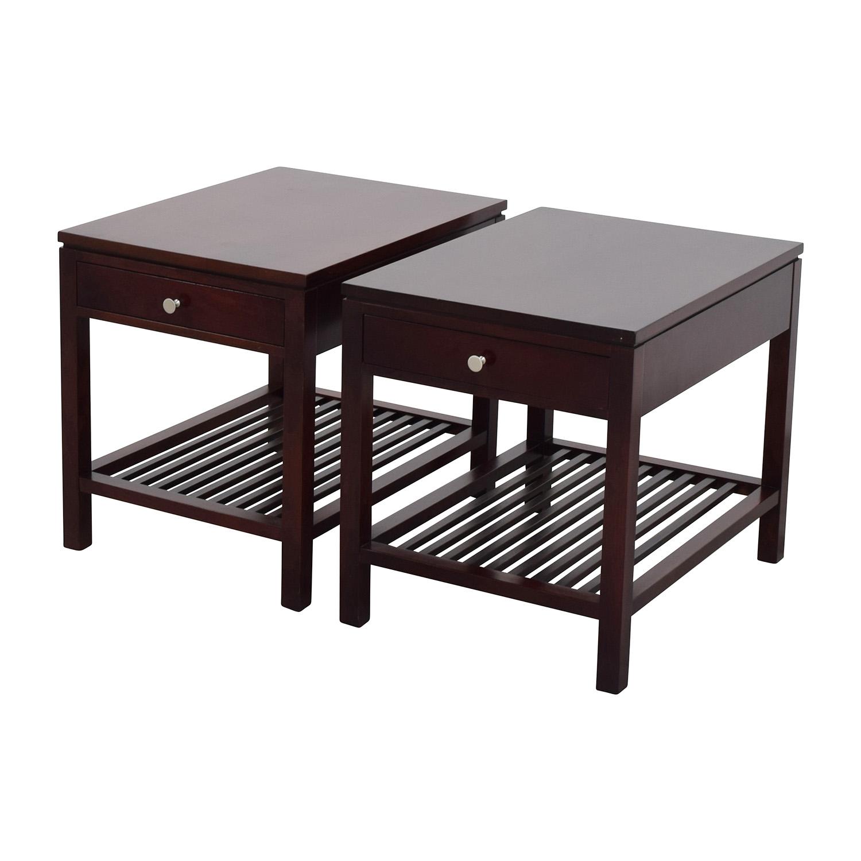 stickley stickley dark brown wood side table