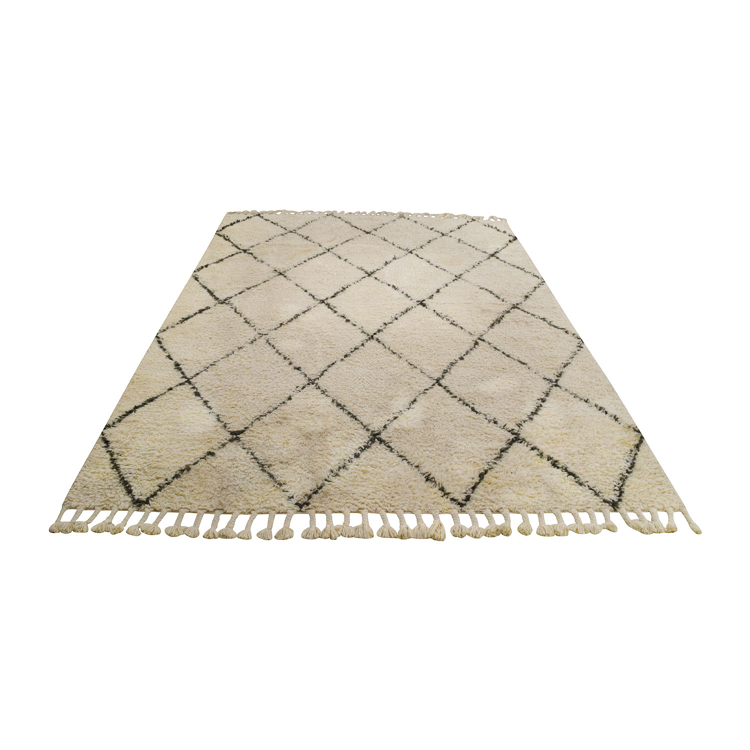 NuLOOM NuLOOM Moroccan Trellis Natural Shag Wool Rug on sale