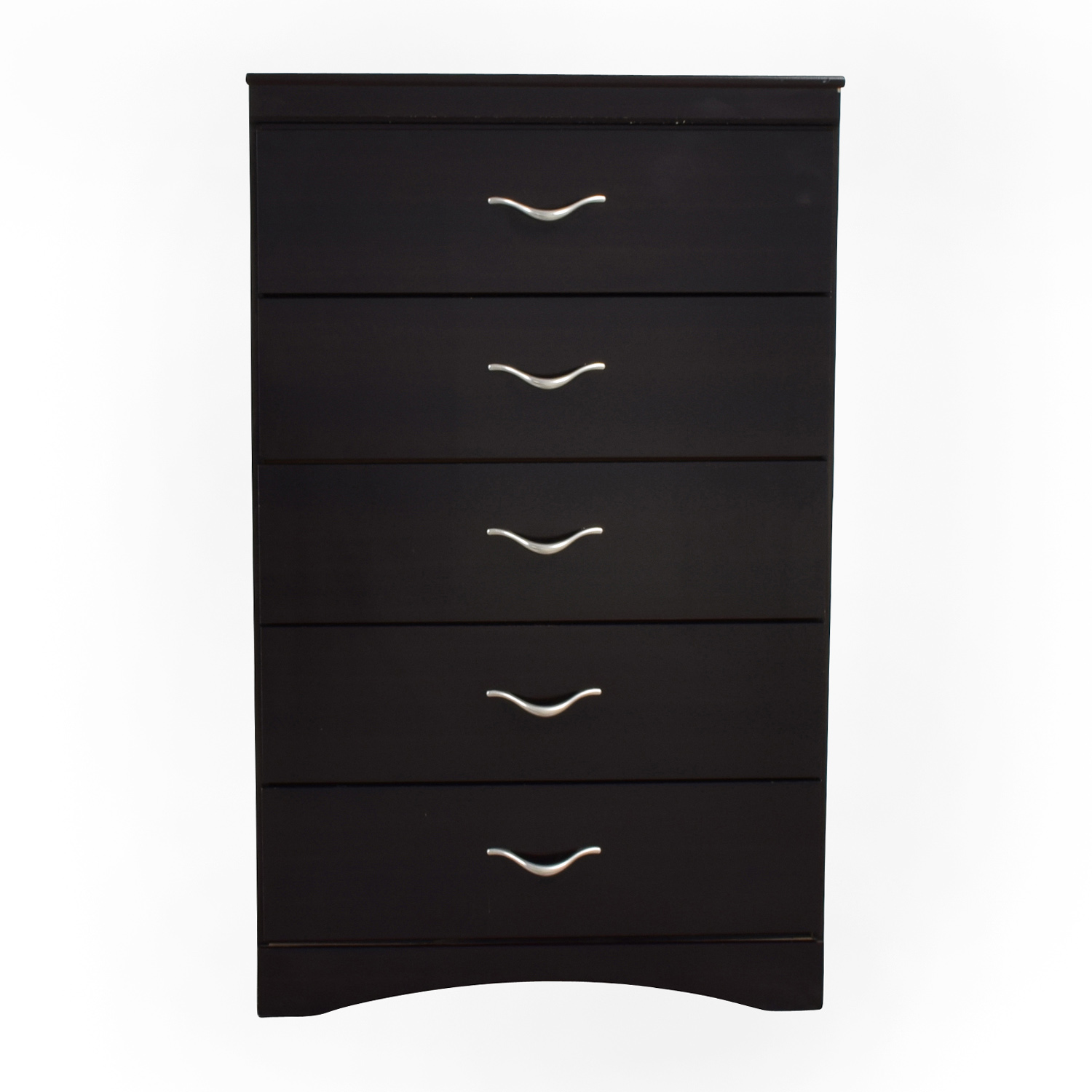 Bobs Furniture Bobs Furniture Black Five Drawer Wooden Chest dimensions