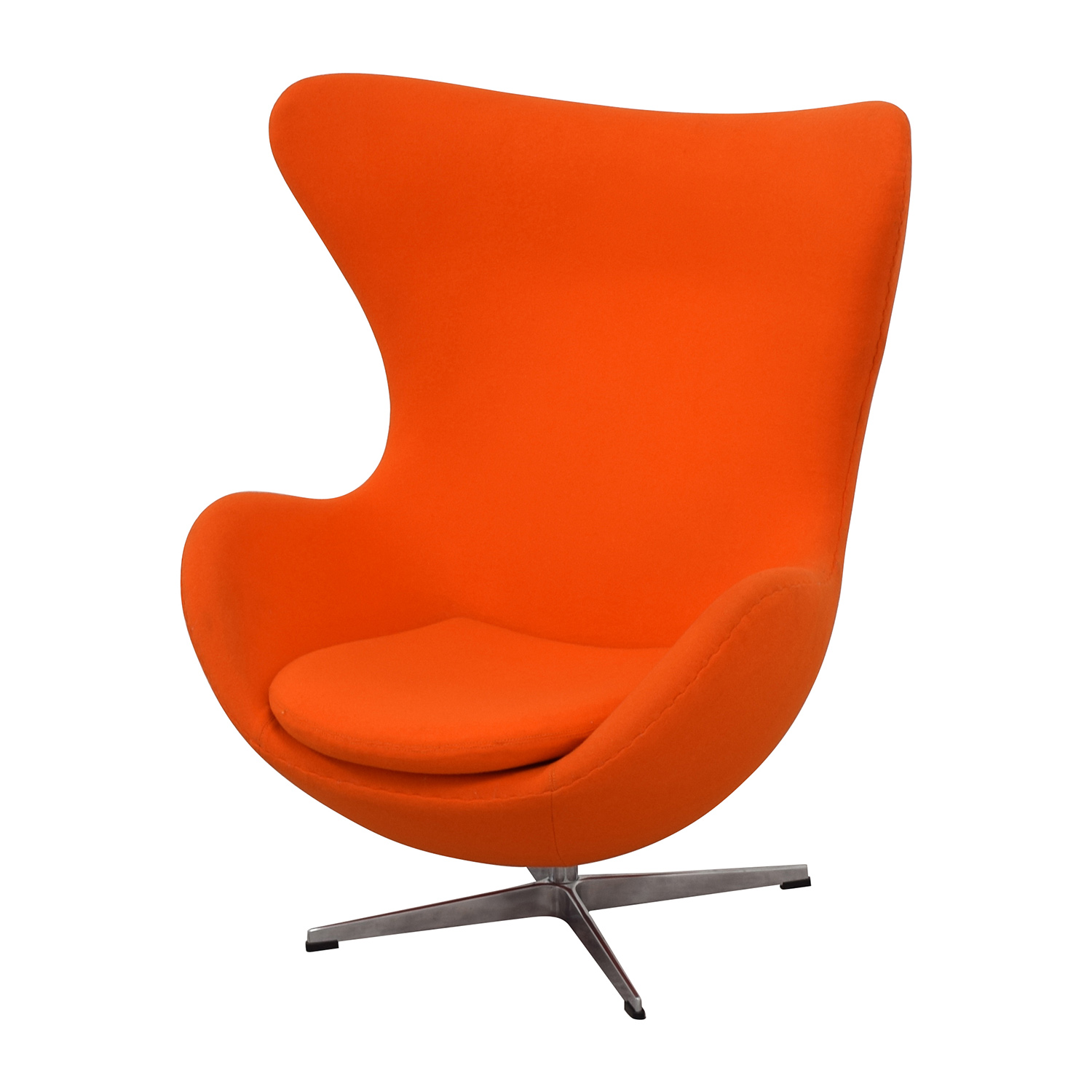 66% OFF Inmod INMod Jacobsen Orange Egg Chair Chairs