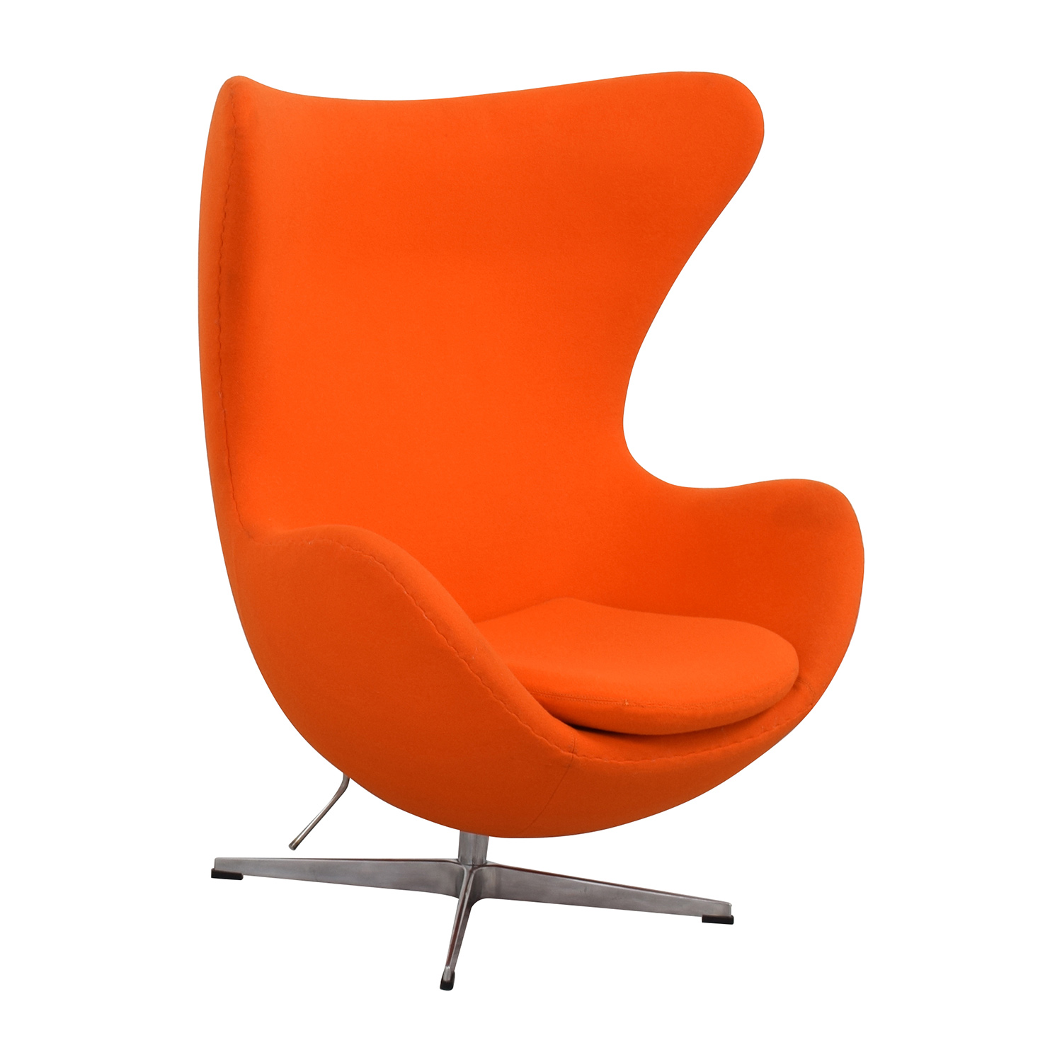 Gentil ... Inmod INMod Jacobsen Orange Egg Chair Accent Chairs ...