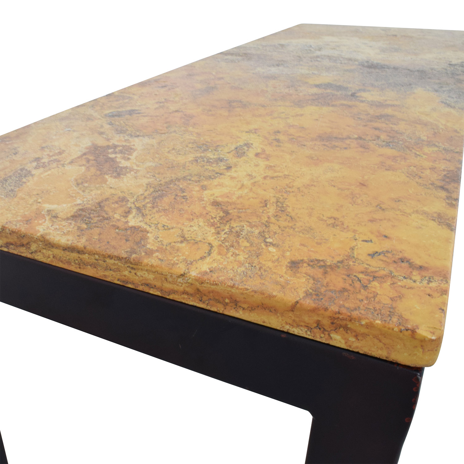 ... Marble Table In Orange Brown Yellow Top Used; Buy ...