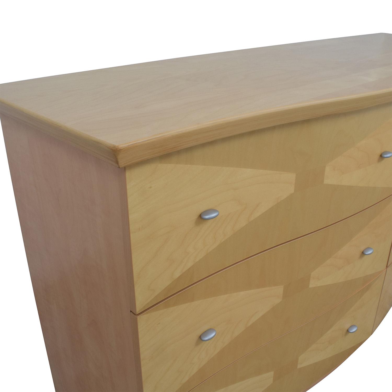 shop Retro Light Wood Six-Drawer Dresser  Dressers