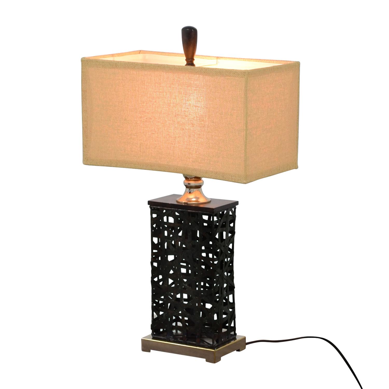 69 OFF Dark Metal Table Lamp Decor
