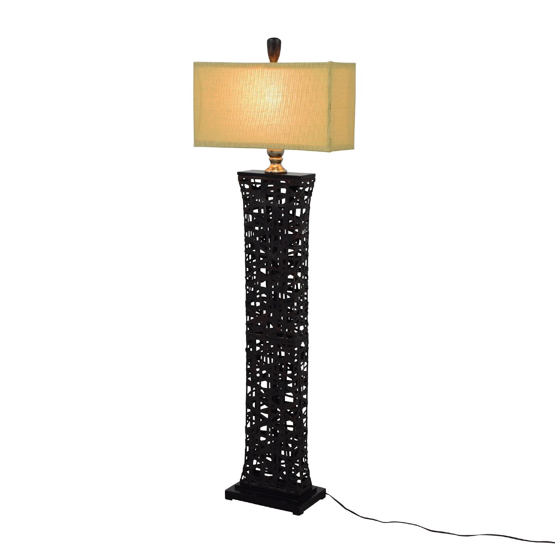 67 off dark metal floor lamp decor used buy dark metal floor lamp online aloadofball Image collections