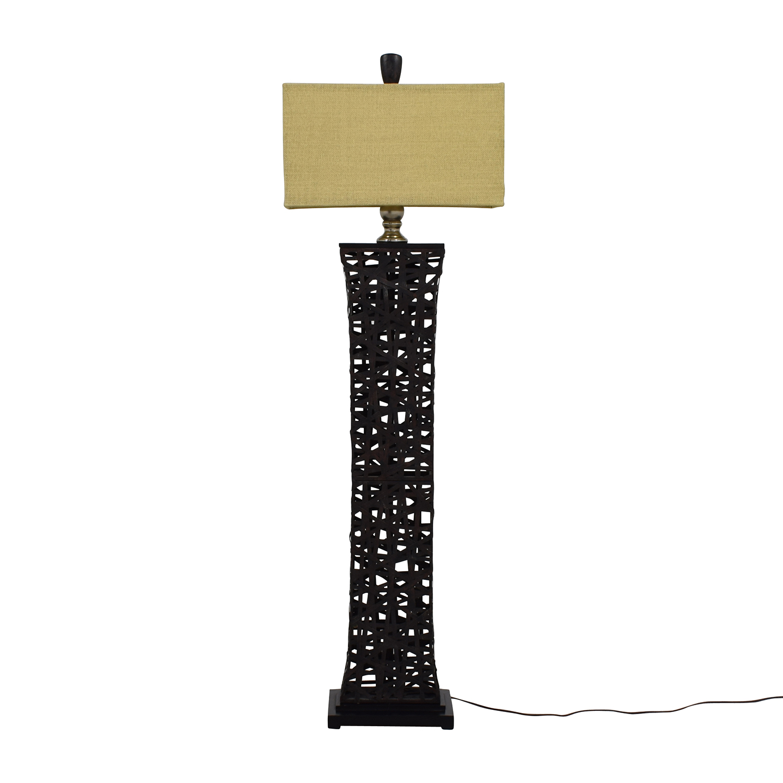Dark Metal Floor Lamp