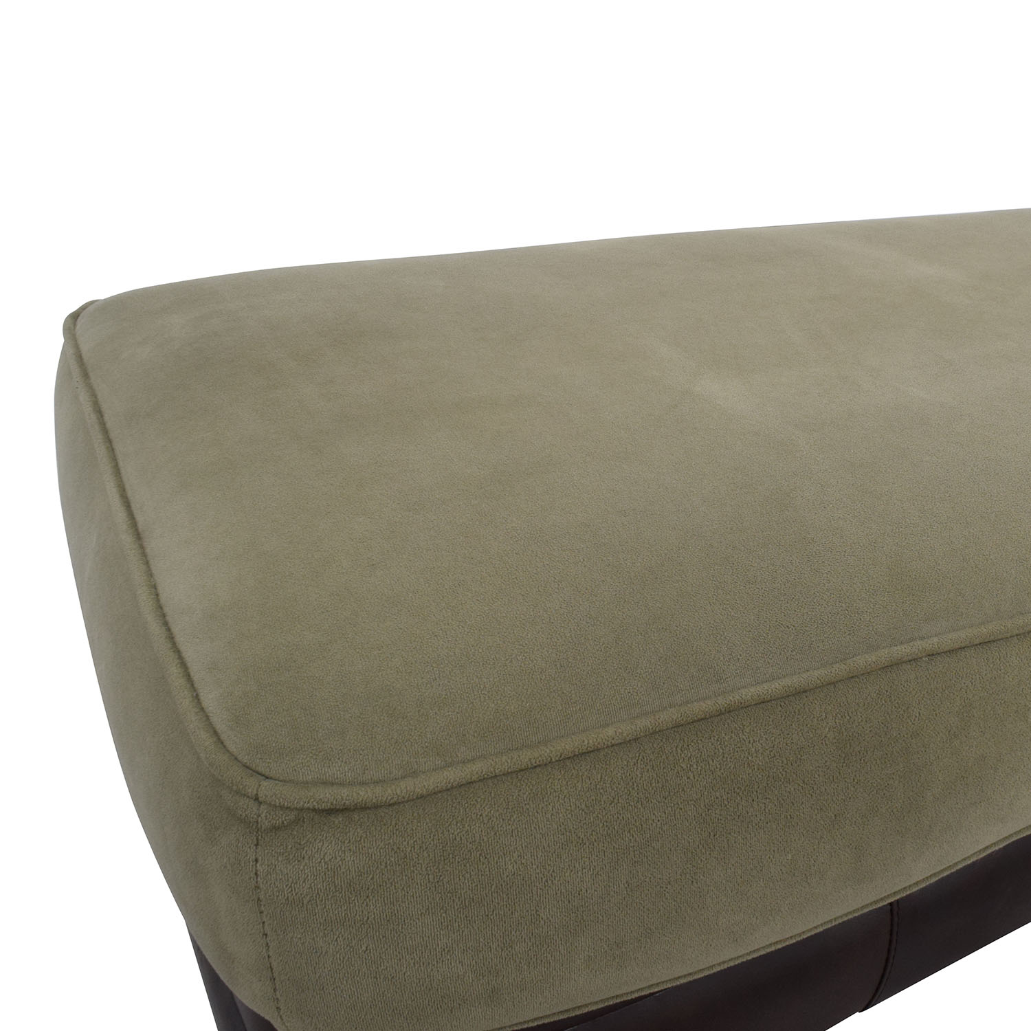 ... Buy Dark Brown Leather And Sage Green Ottoman Chairs ...