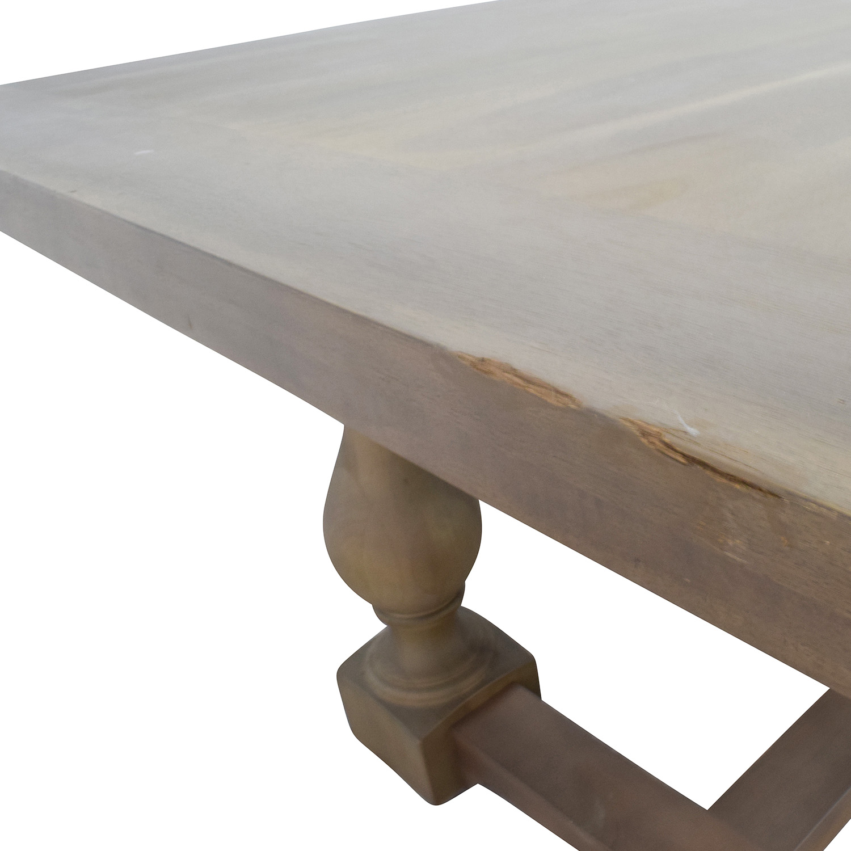 73 Off Restoration Hardware 17th Century Monastery Rectangular Dining Table Tables