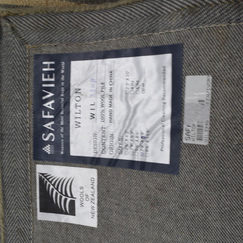 Safavieh Wilton Grey and Light Blue Wool Rug / Rugs