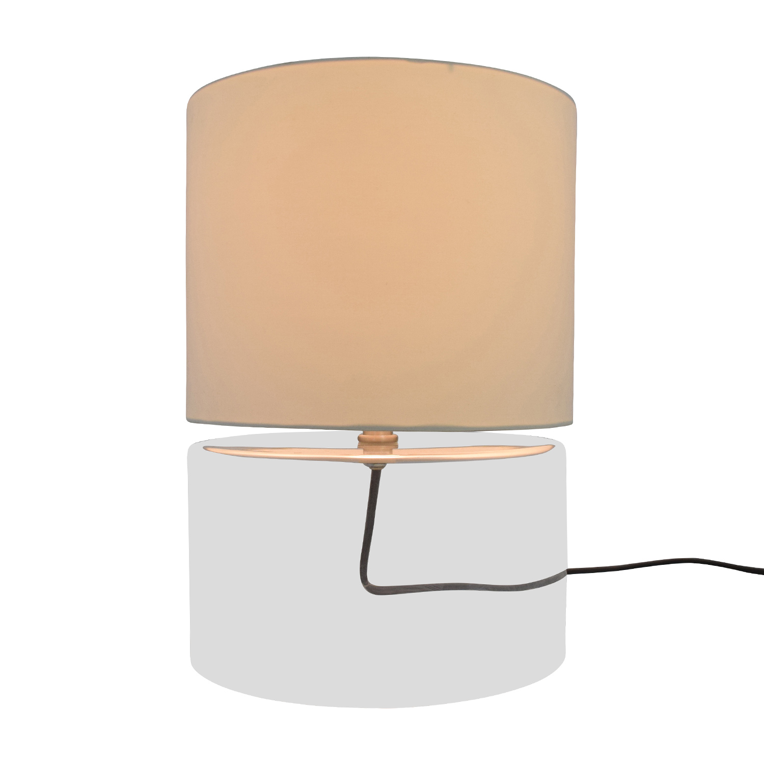 76% OFF - CB2 CB2 Clear Base Round Lamp / Decor