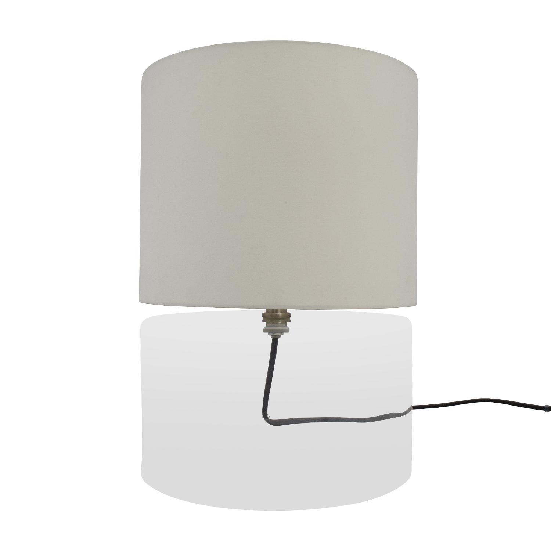 buy CB2 Clear Base Round Lamp CB2 Decor