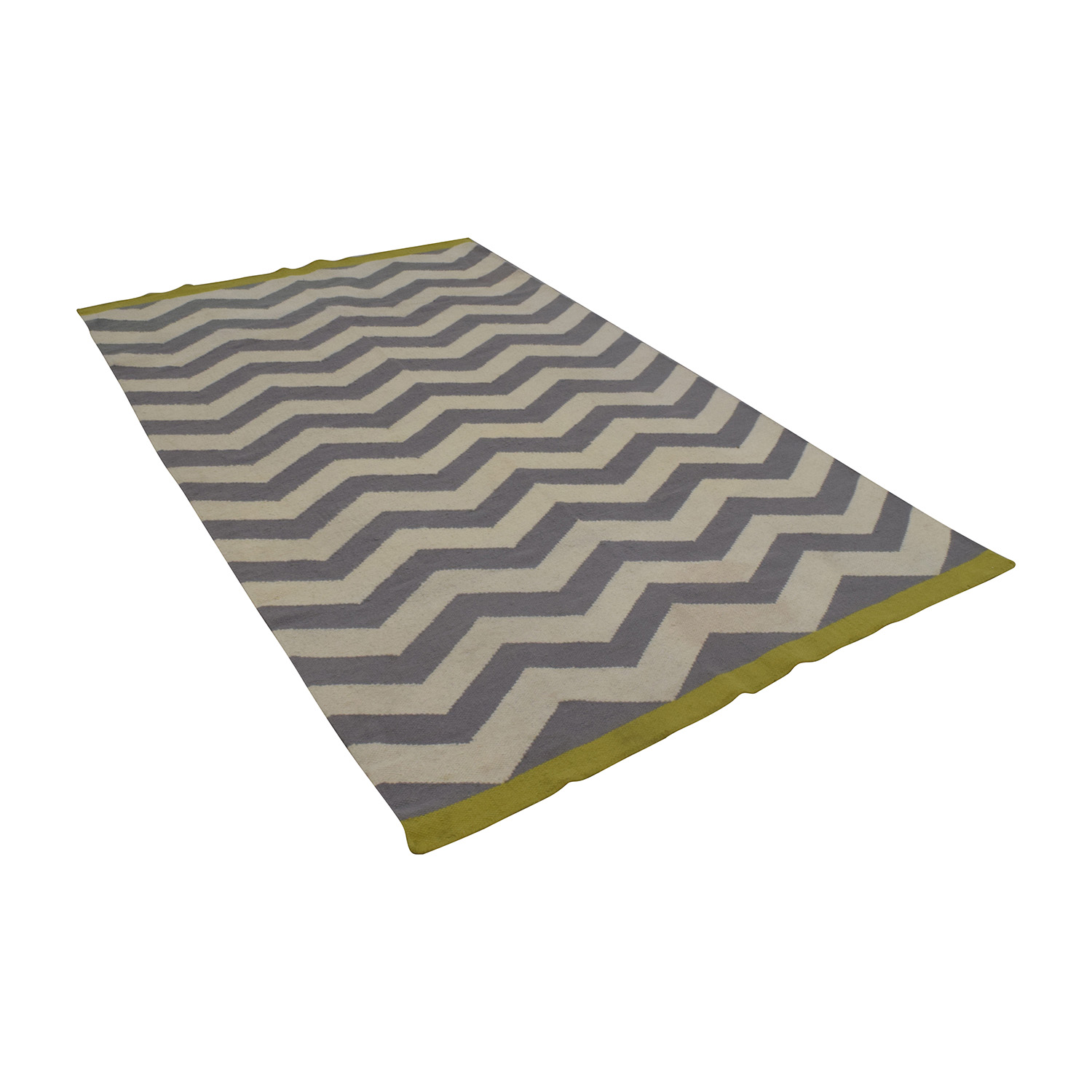 West Elm West Elm Zigzag Selvedge Rug nj