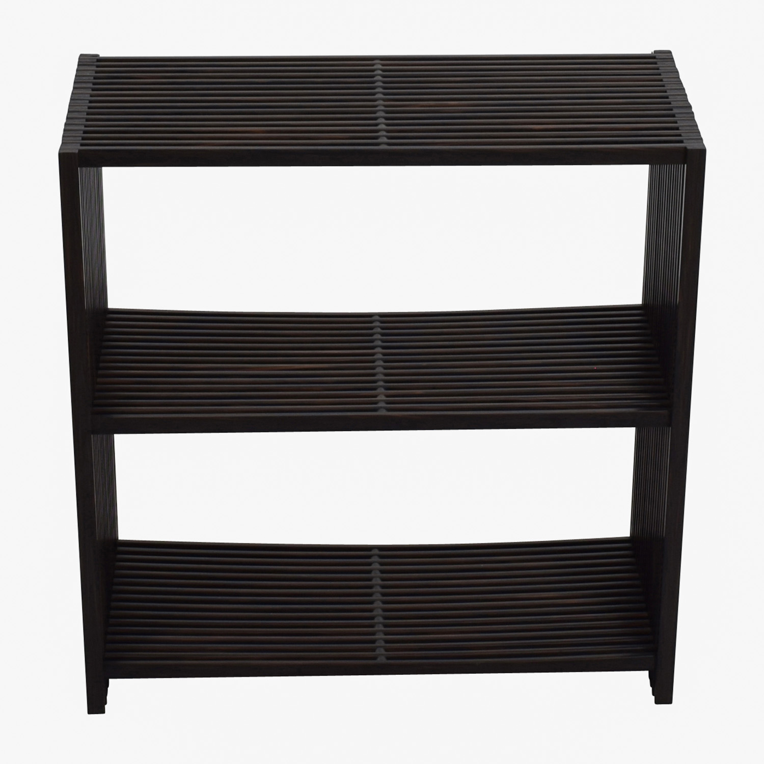 Seville Classics Seville Classics 3-Tier Two-Tone Folding Wide Rectangle Bookcase Shelf for sale