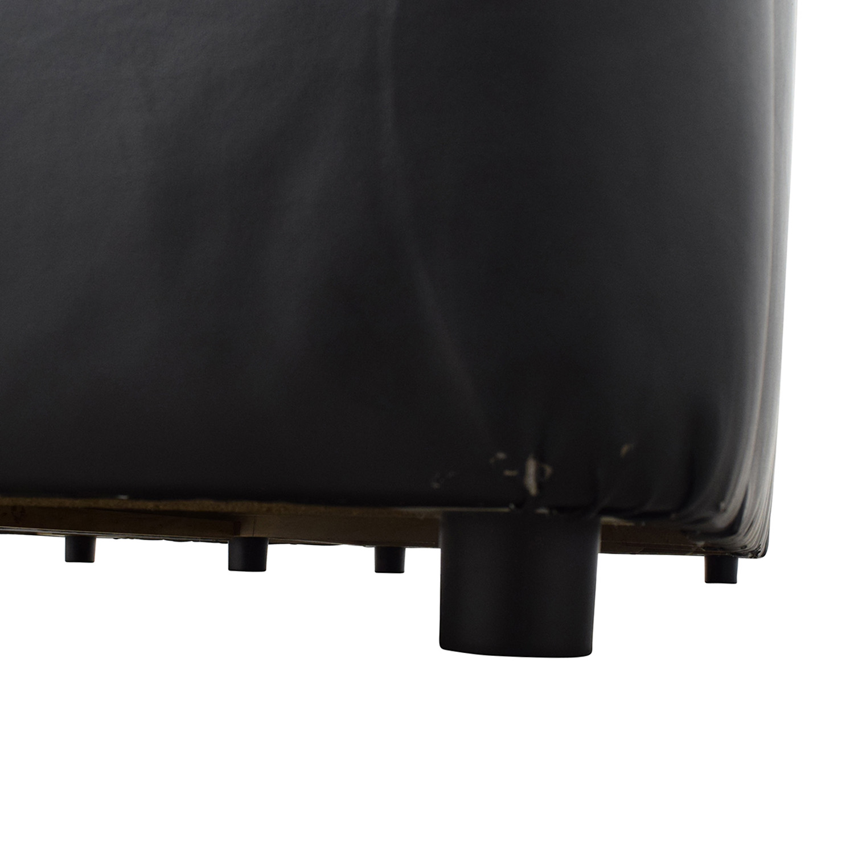 buy IKEA IKEA Black 3-Piece Leather Sectional online