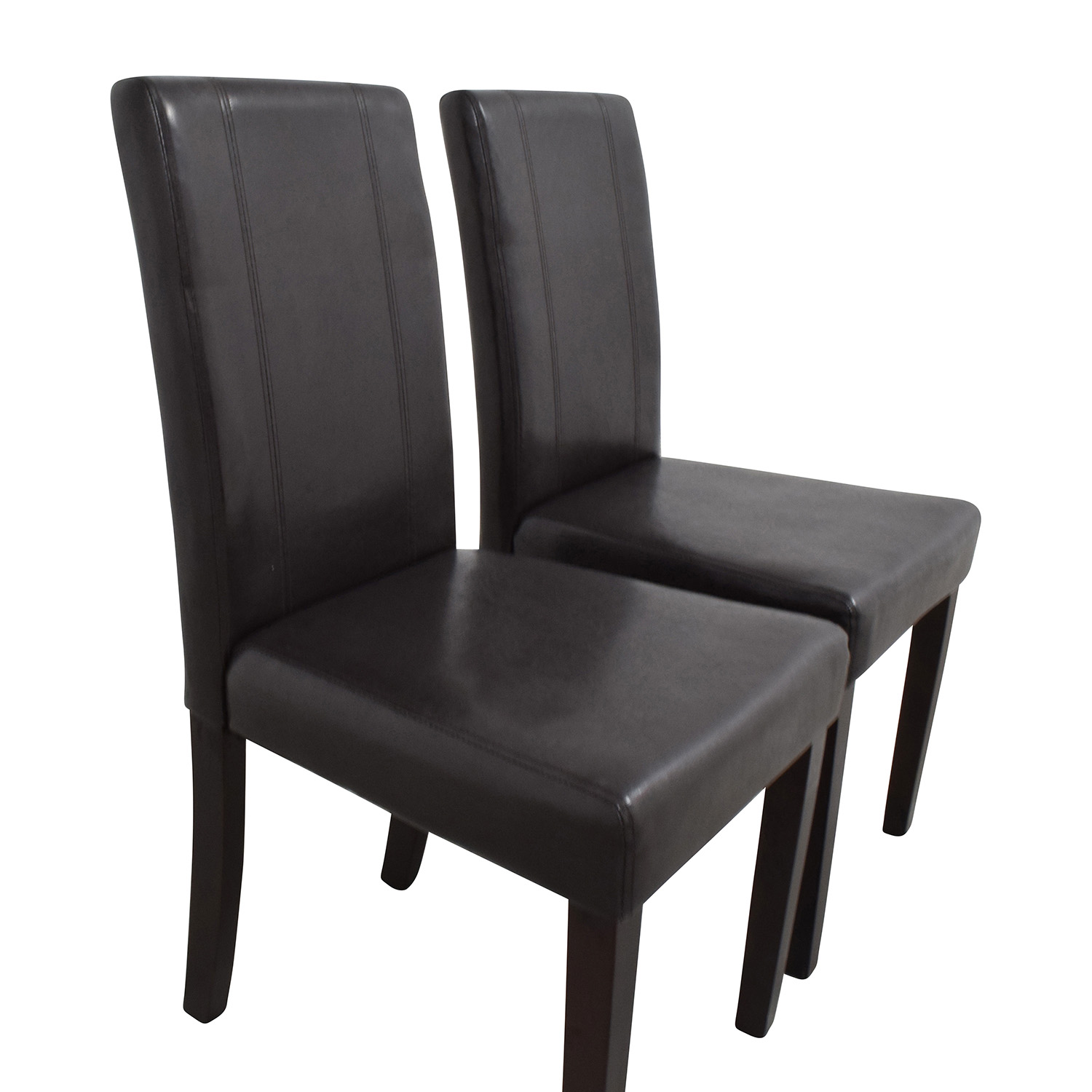 Roundhill Roundhill Solid Wood Leatherette Padded Parson Chairs