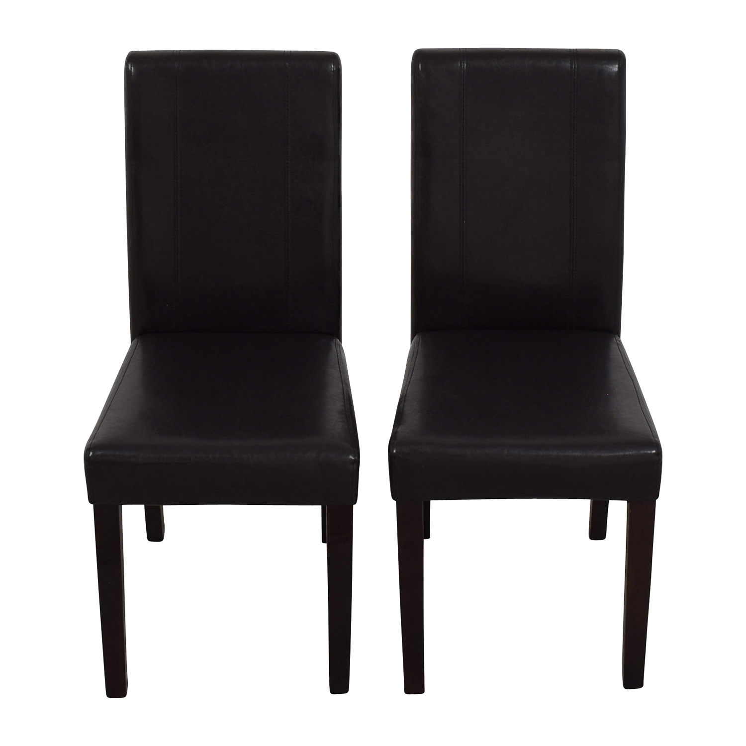 buy Roundhill Roundhill Solid Wood Leatherette Padded Parson Chairs online