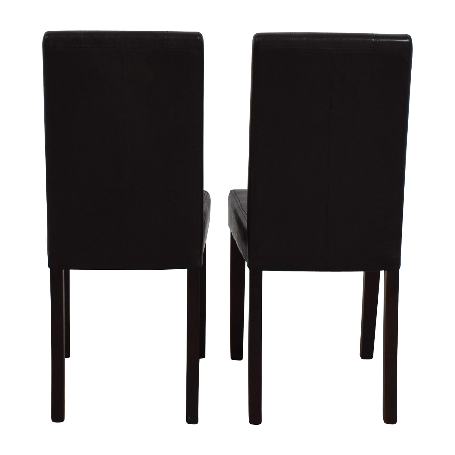 Roundhill Roundhill Solid Wood Leatherette Padded Parson Chairs discount