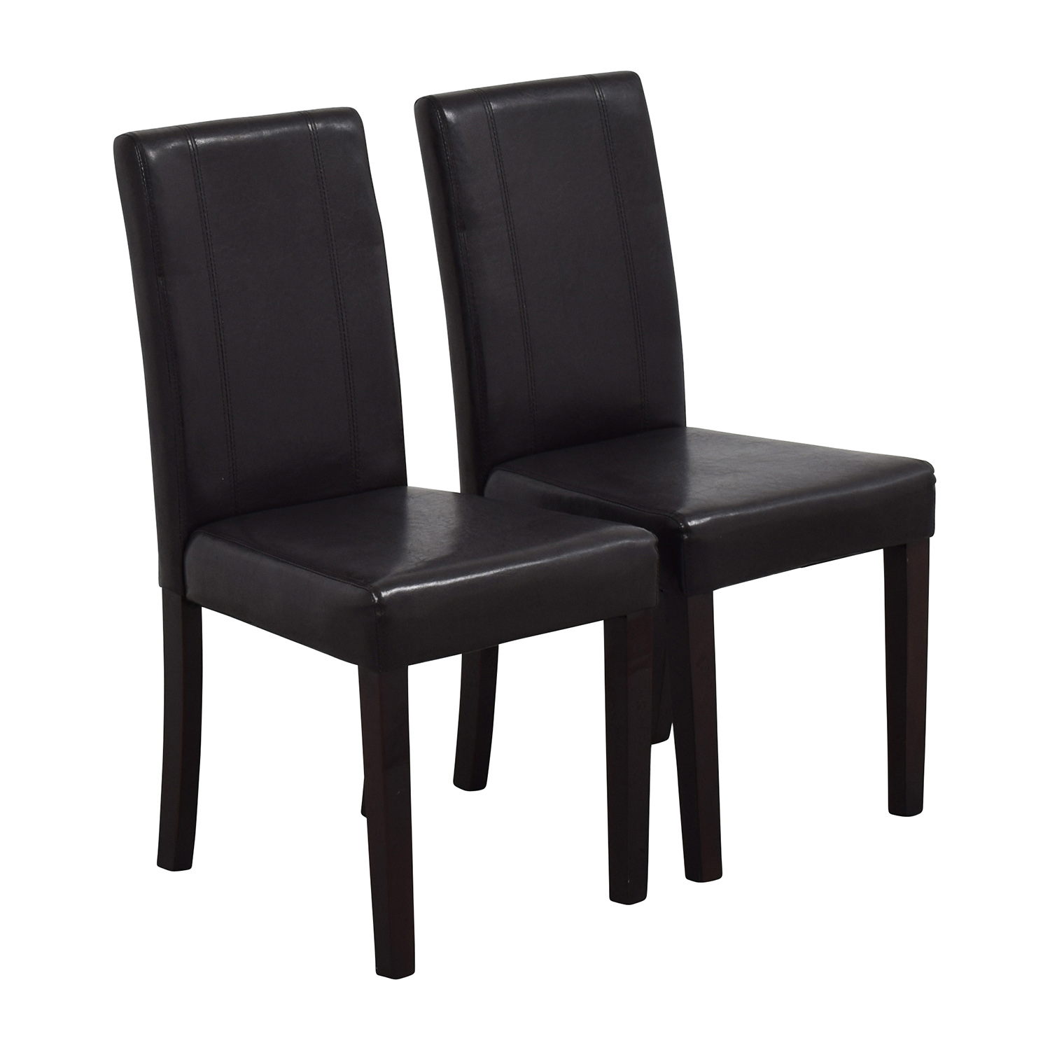 buy Roundhill Solid Wood Leatherette Padded Parson Chairs Roundhill