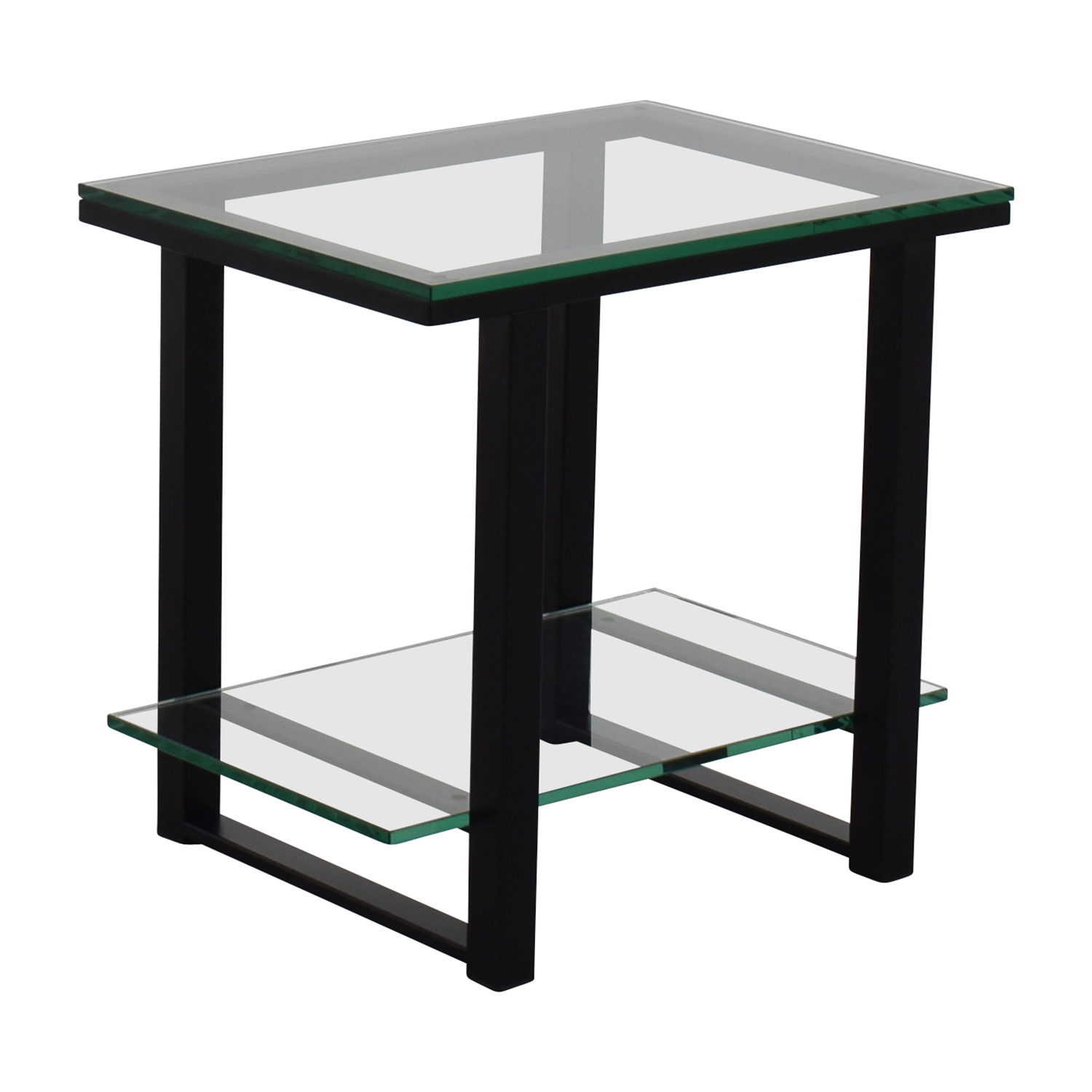 buy Crate & BarrelGlass and Metal Two -Shelf Side Table Crate and Barrel