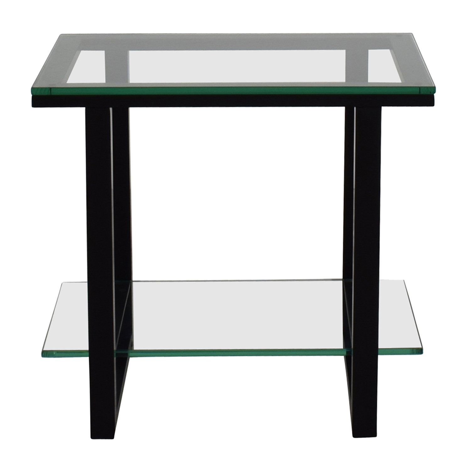 shop Crate & BarrelGlass and Metal Two -Shelf Side Table Crate and Barrel