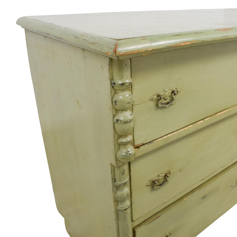 Antique Sage Green Three-Drawer Dresser sale
