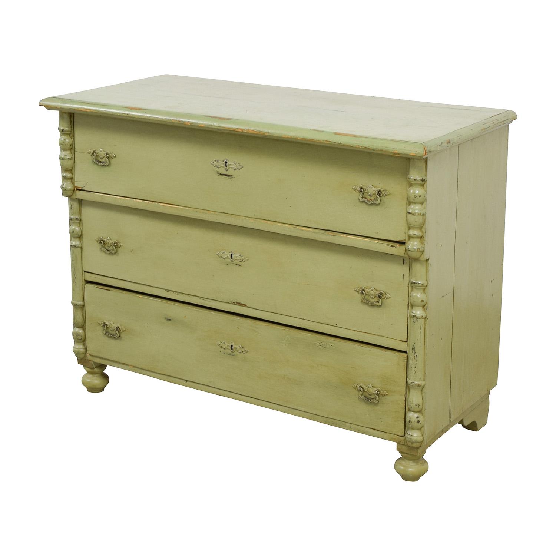 Antique Sage Green Three-Drawer Dresser on sale