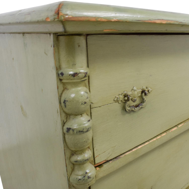 buy Antique Sage Green Three-Drawer Dresser online