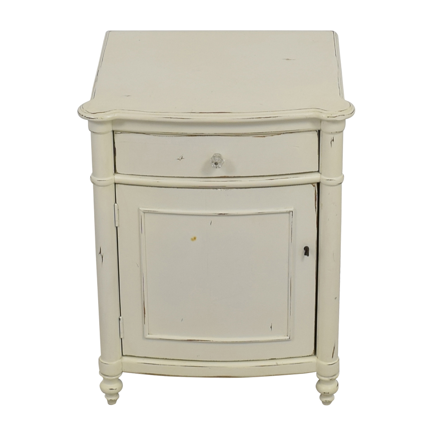 Pottery Barn White Distressed Nightstand Pottery Barn