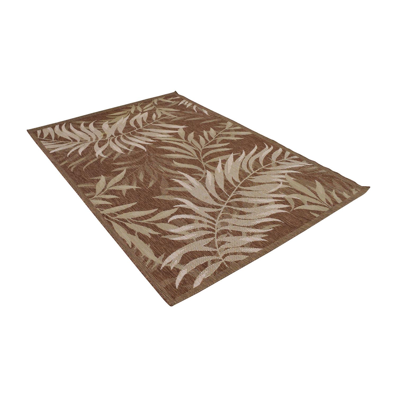 27 off balta balta palm leaf havanah indoor outdoor rug decor. Black Bedroom Furniture Sets. Home Design Ideas