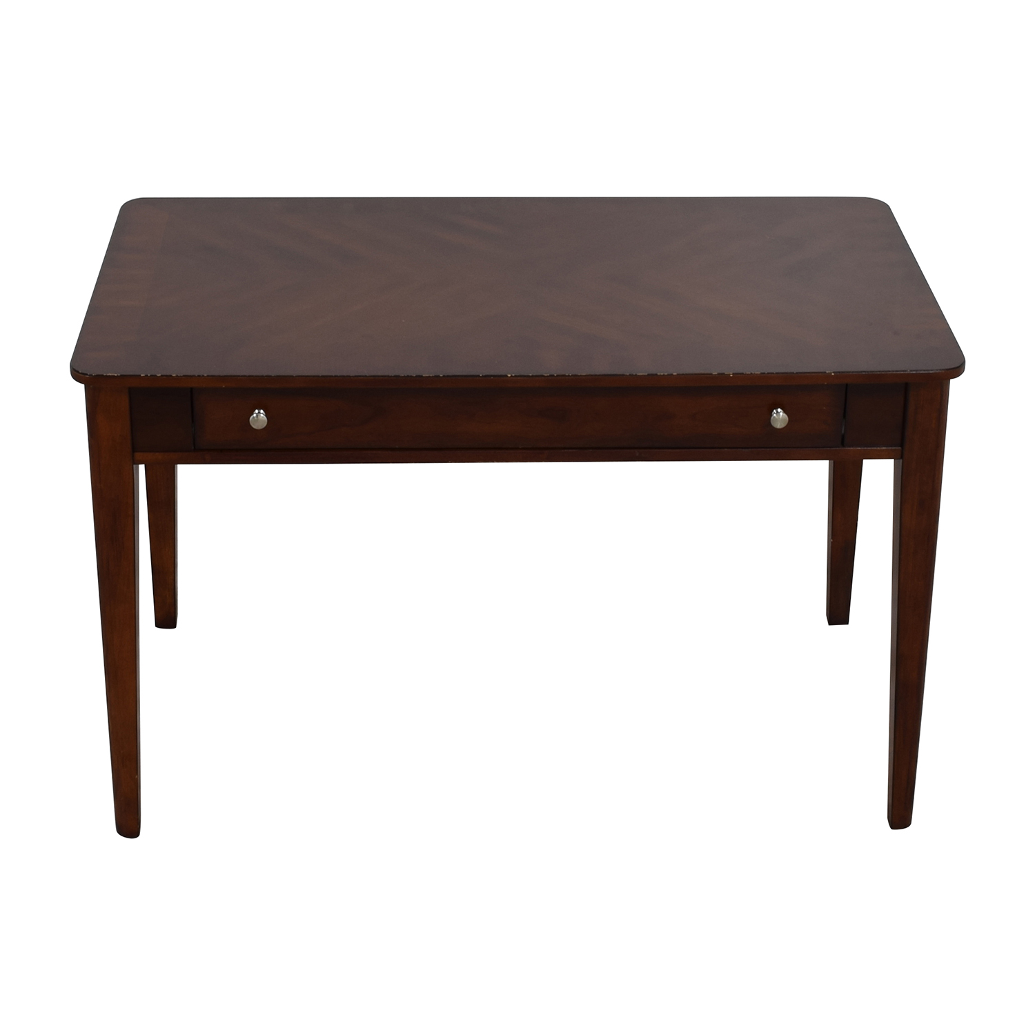 Brown Wood One Drawer Desk / Tables