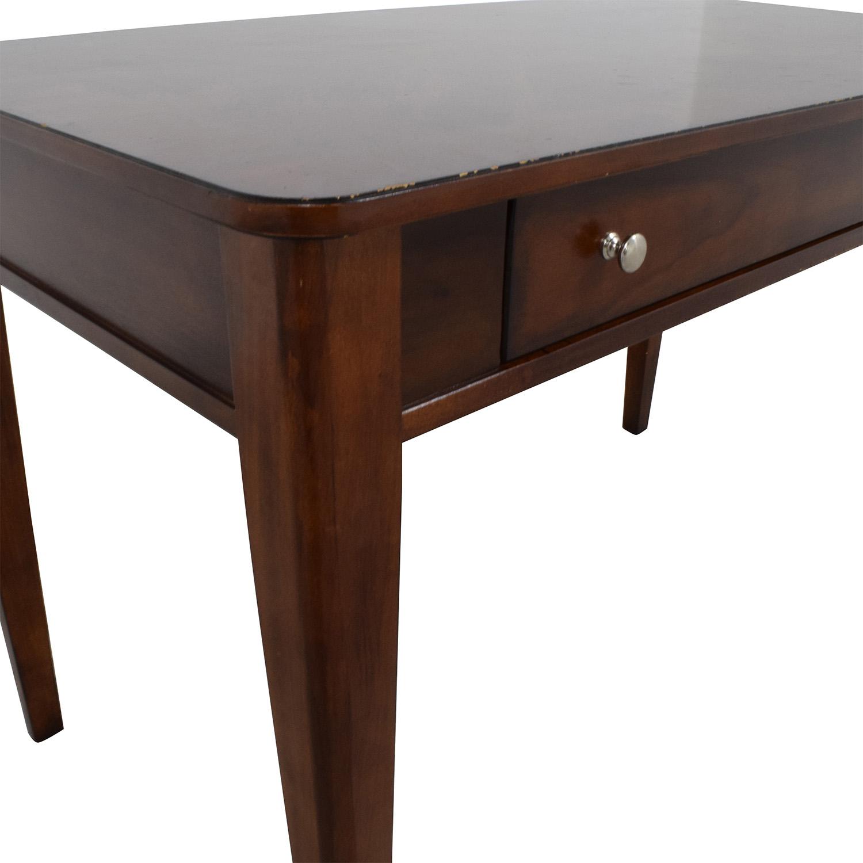 Brown Wood One Drawer Desk Brown