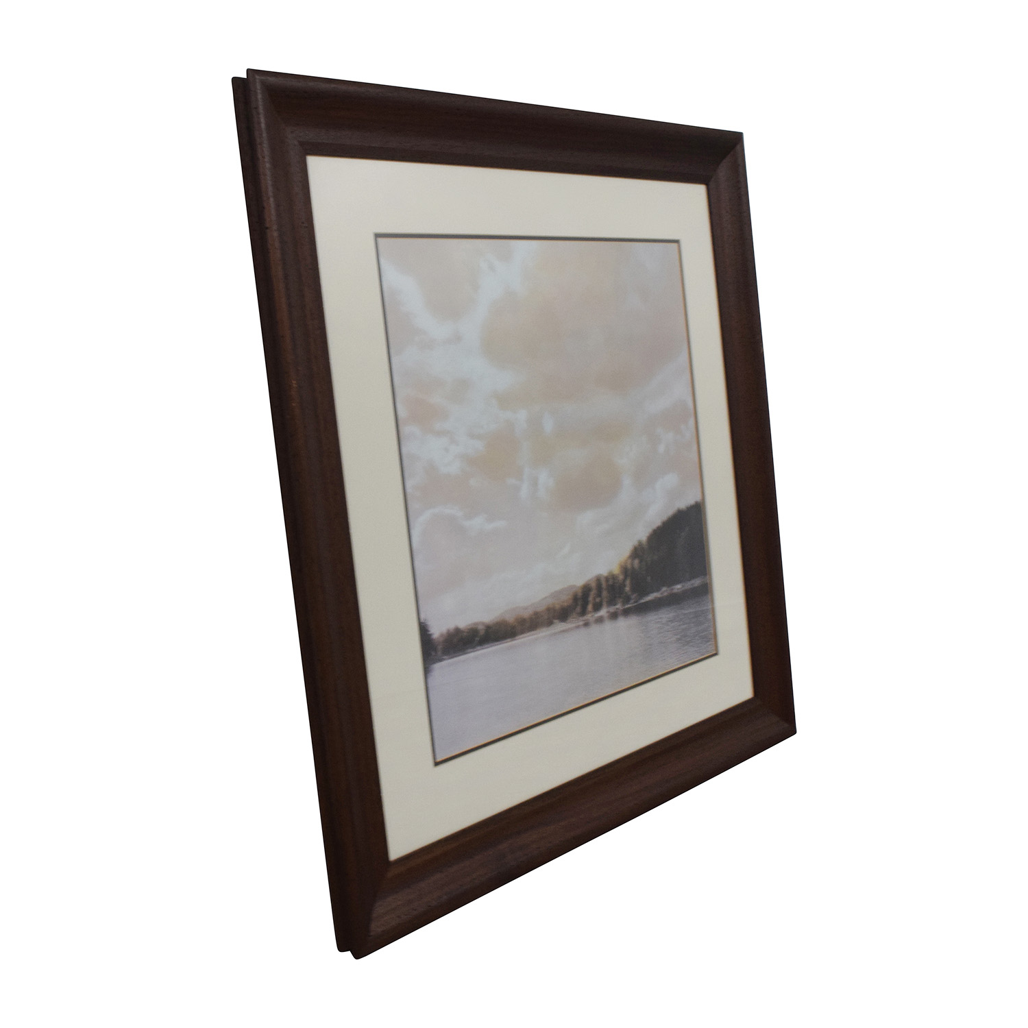 shop Scenic Picture of Lake in Wood Frame Decor