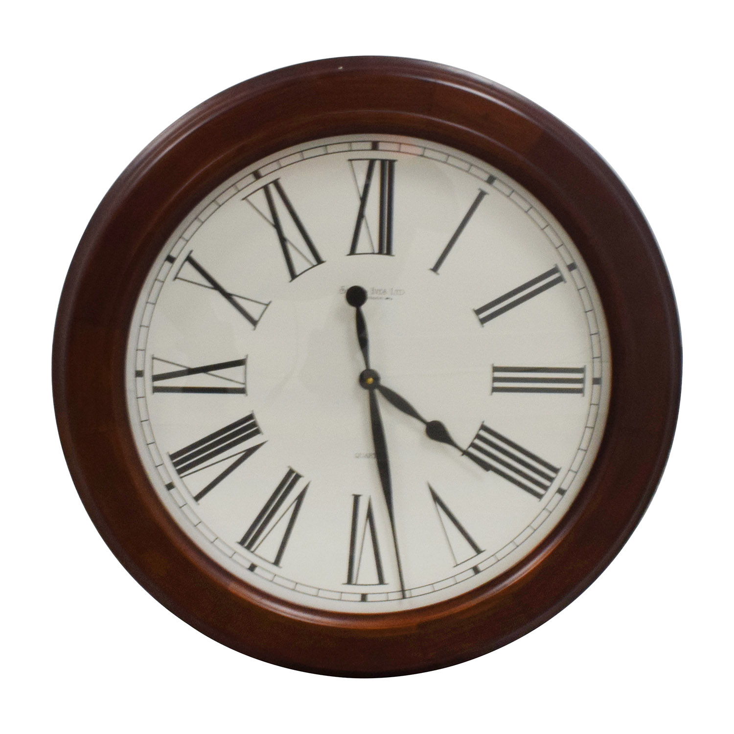 31 Off Smith Ives Roman Numeral Clock In Wood Frame Decor
