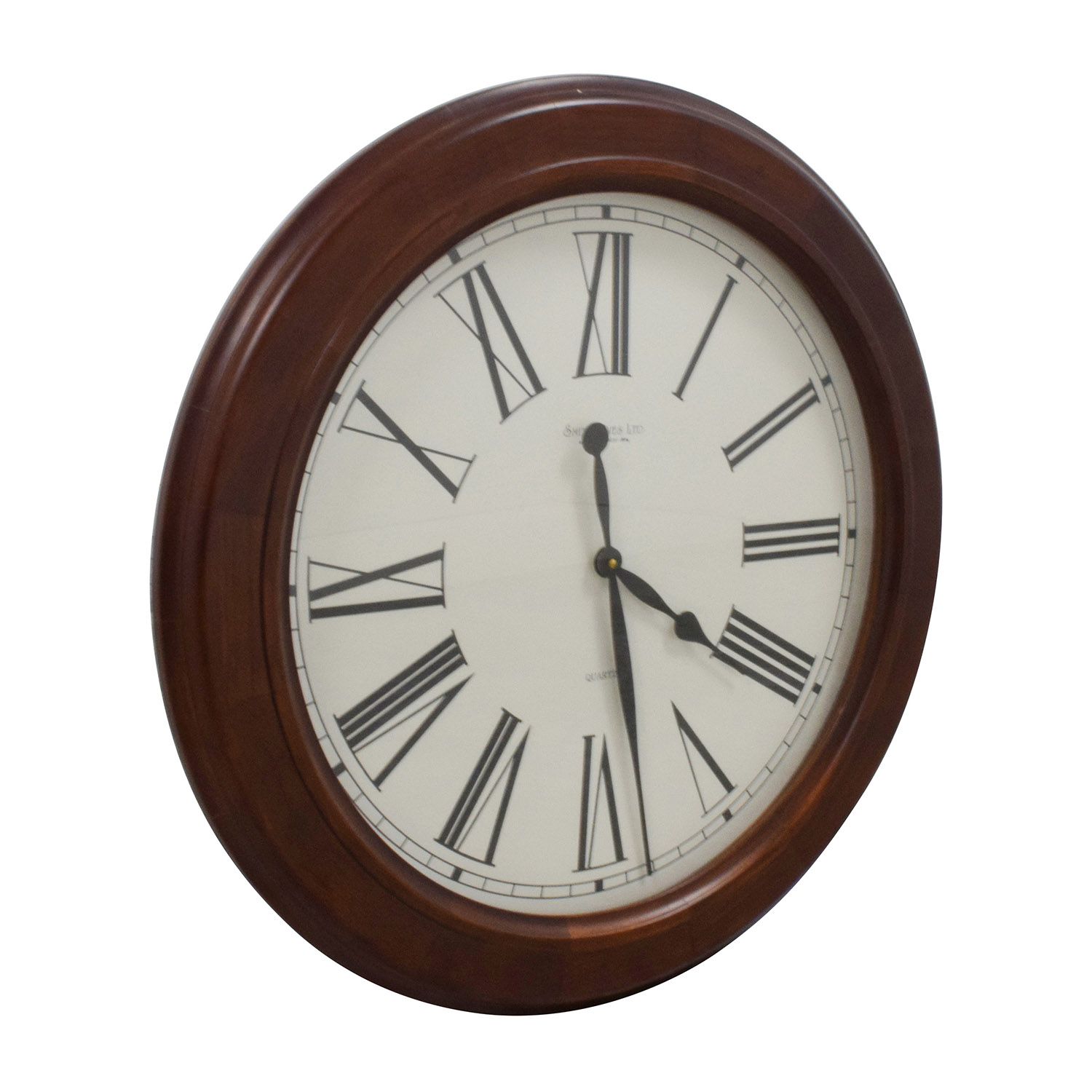 shop Smith Ives Roman Numeral Clock in Wood Frame Smith Ives LTD Decor