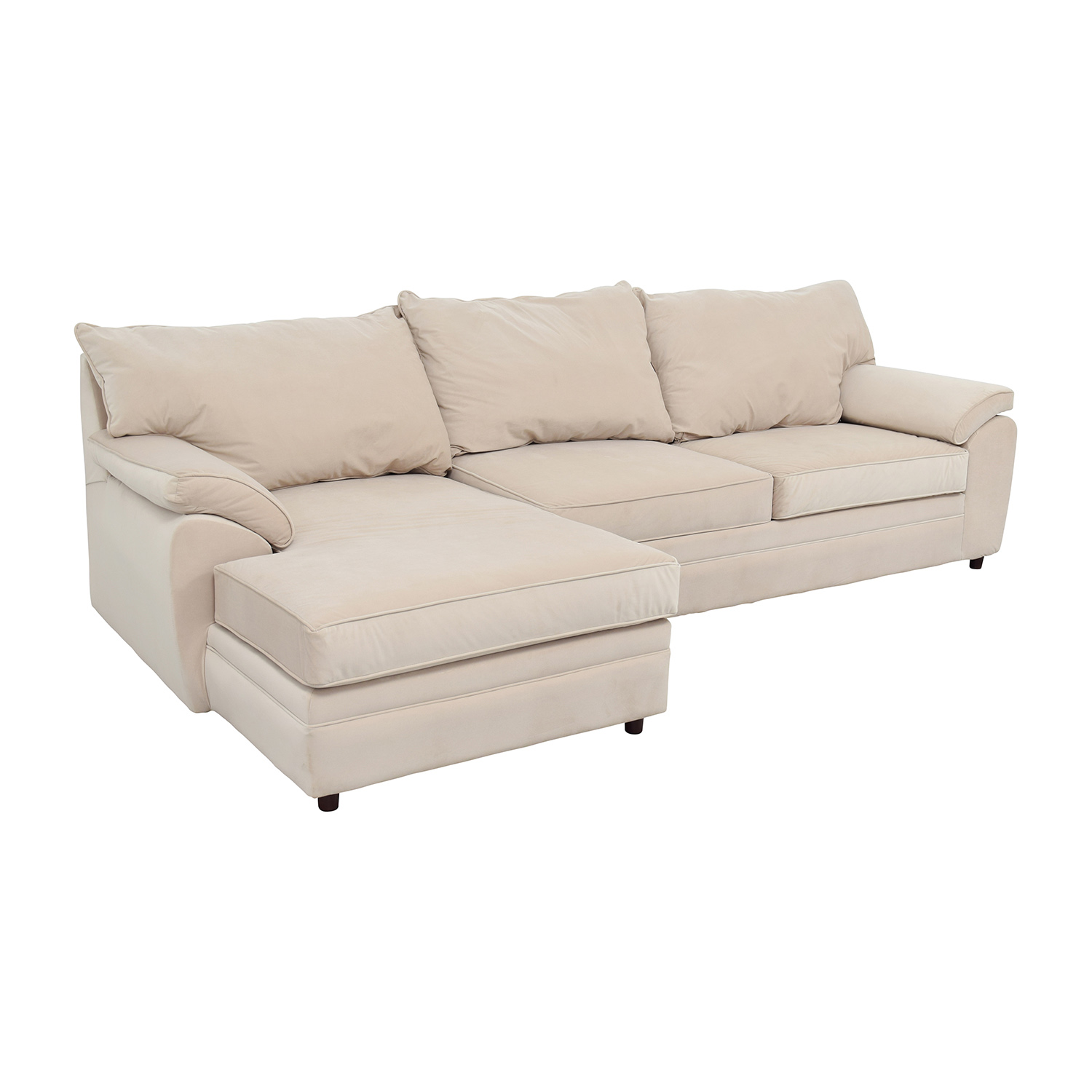 buy Bob Furniture Off-White Right Chaise Sectional Bobs Furniture Sectionals