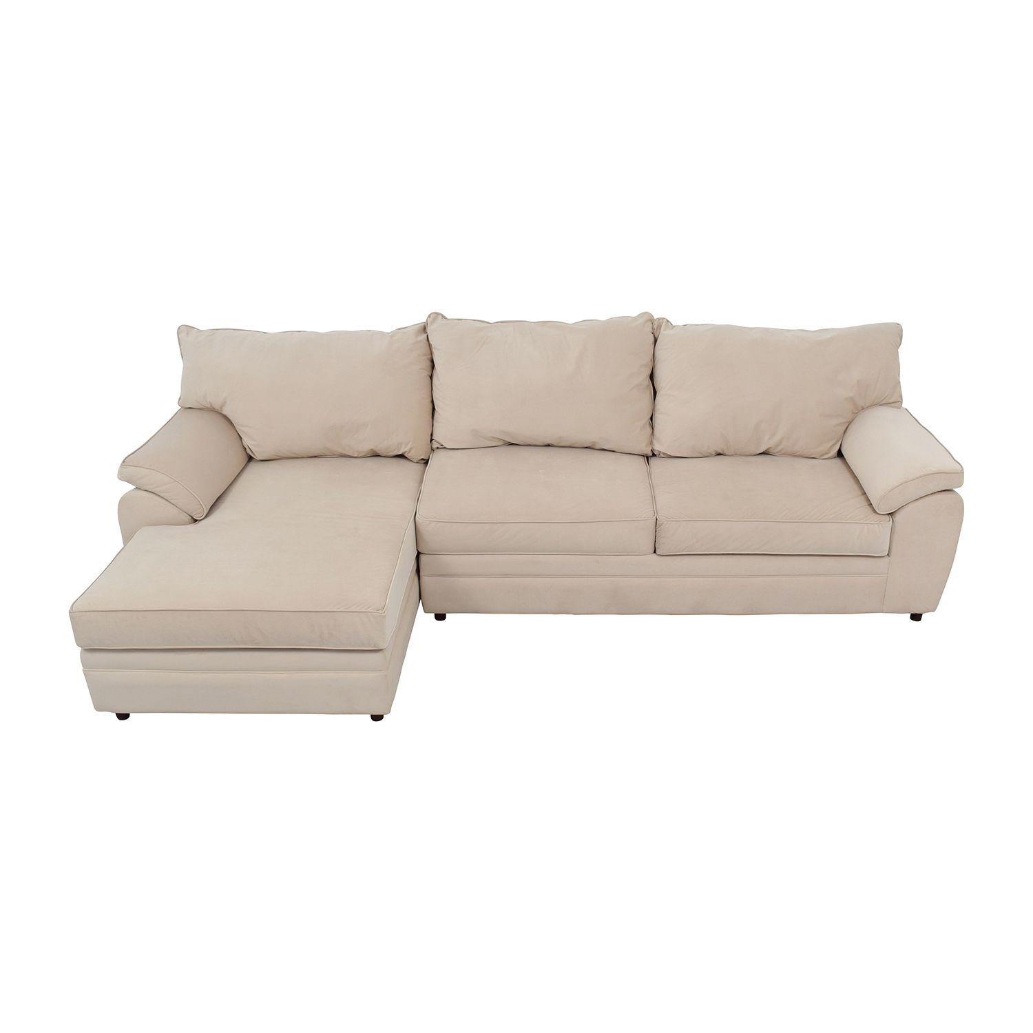 Bobs Furniture Bob Furniture Off-White Right Chaise Sectional nyc