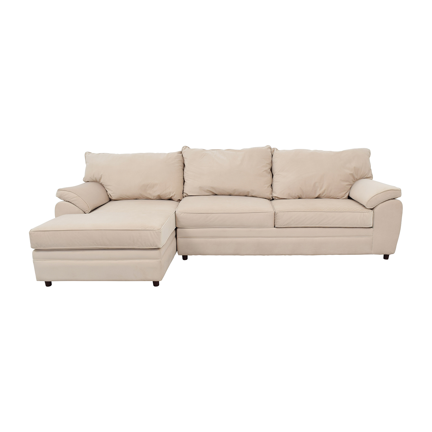 Bobs Furniture Bob Furniture Off-White Right Chaise Sectional